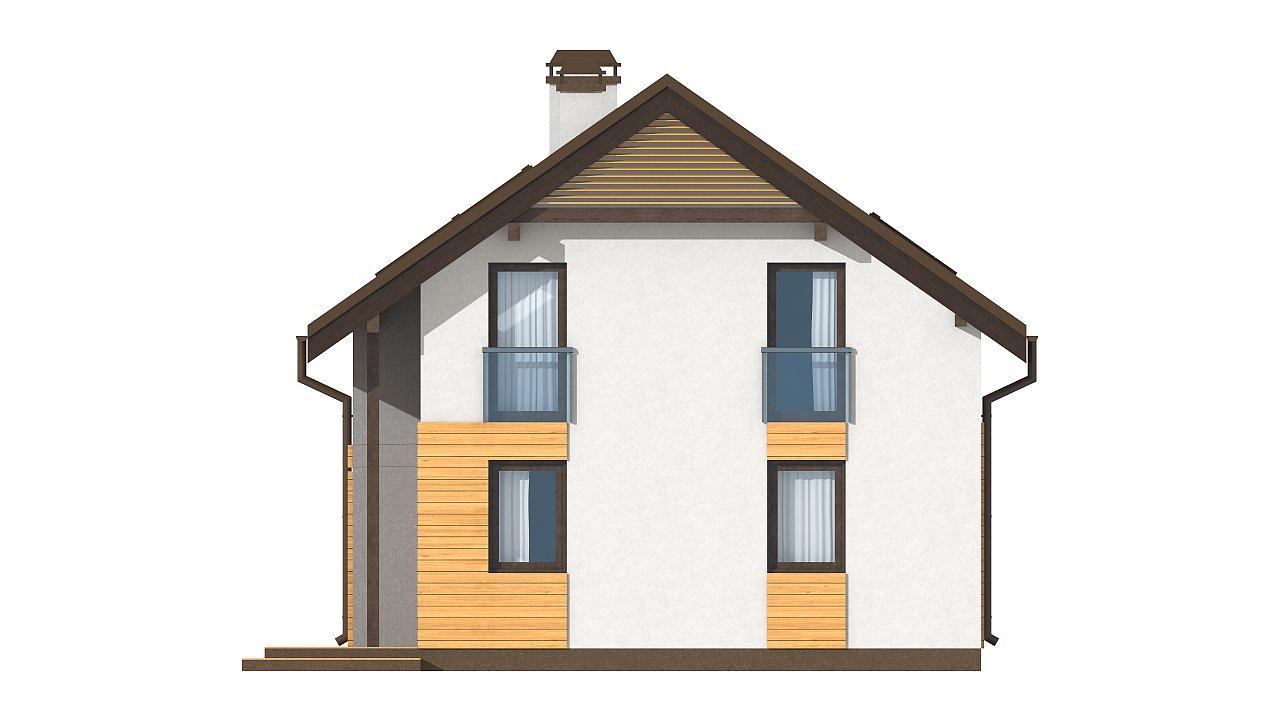 Вариант мансардного дома Z149 без гаража 13