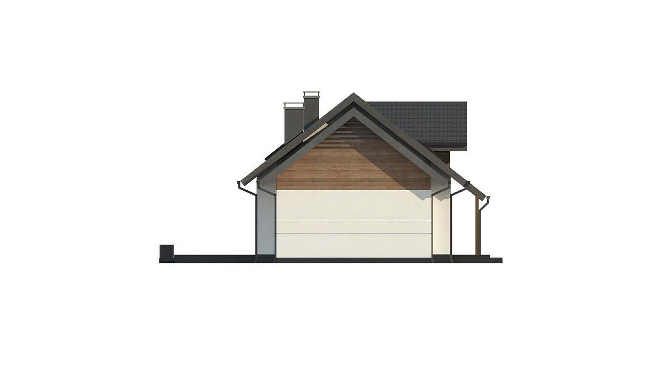 Красивый дом в традиционном стиле архитектуры, с комнатой на пером этаже и гаражом. - фото 9