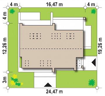 Комфортный мансардный дом для двух семей. план помещений 1