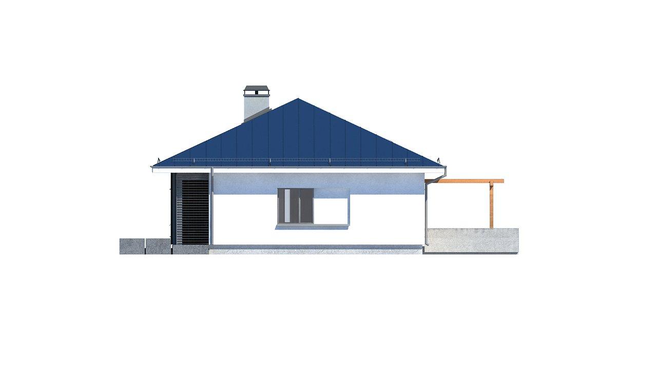 Практичный одноэтажный дом традиционной формы с многоскатной крышей. 27