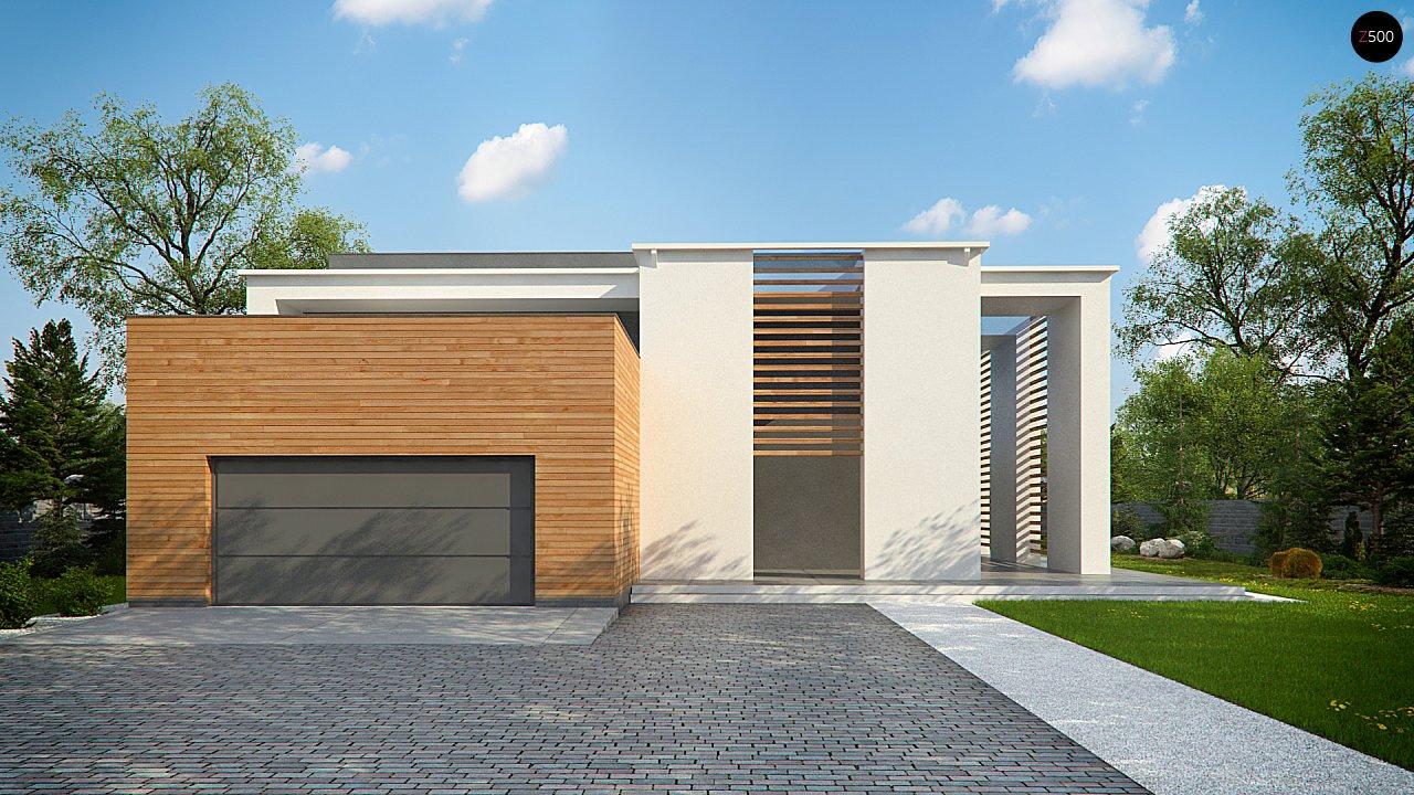 Современный двухэтажный дом с большим остеклением и гаражом на две машины 10