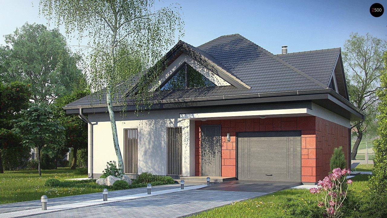 Практичный дом со встроенными гаражом, с большой площадью остекления в гостиной. - фото 1