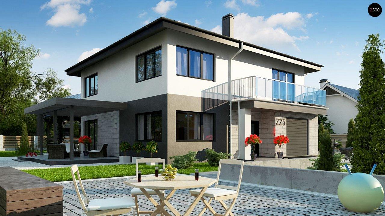 Современный двухэтажный дом с гаражом. 4