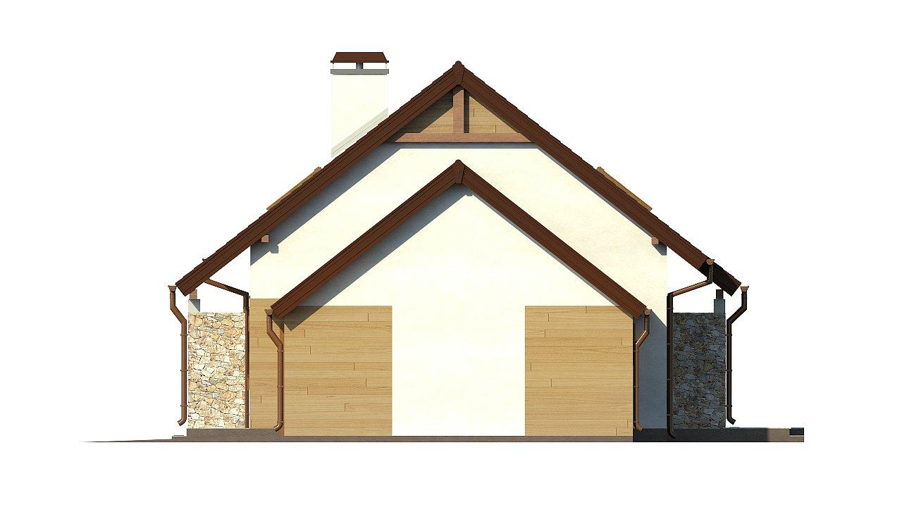 Версия проекта дома Z102 с гаражом, пристроенным справа. 23