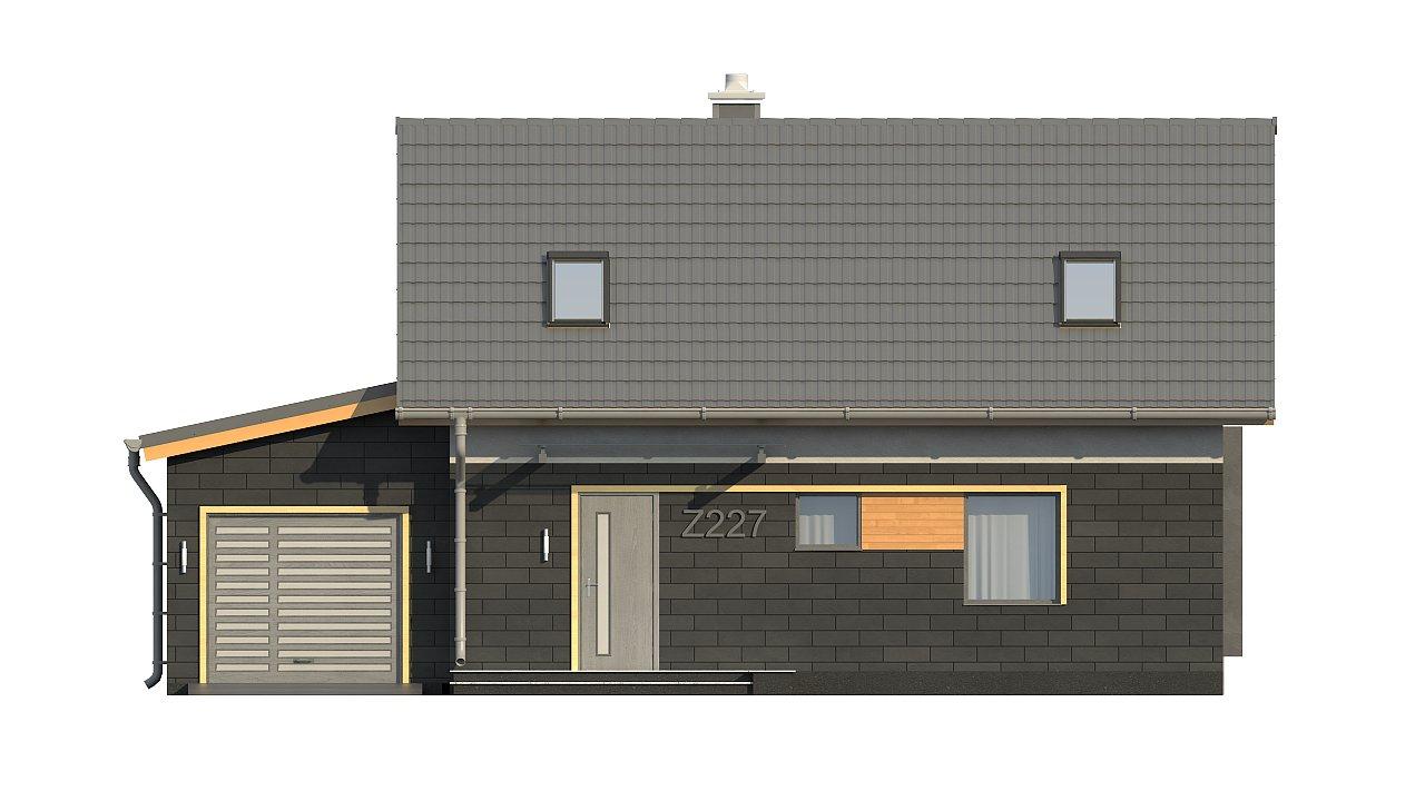 Проект компактного аккуратного дома с гаражом. - фото 8