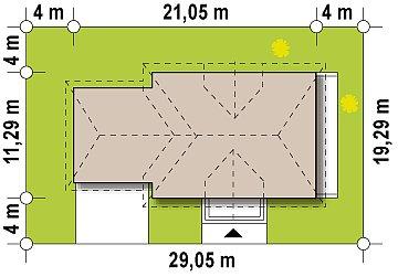 Проект дома Z50 в современной интерпретации. план помещений 1