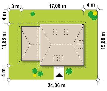 Современный дом с гаражом план помещений 1