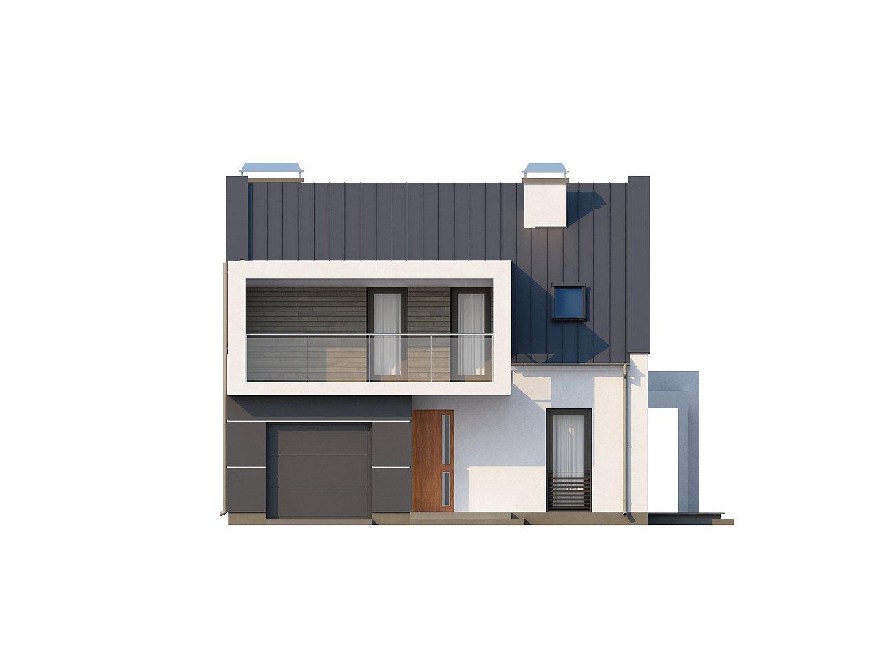 Современный дом с уютным и функциональным интерьером. Интересное сочетание двускатной крыши и кубических форм. - фото 22