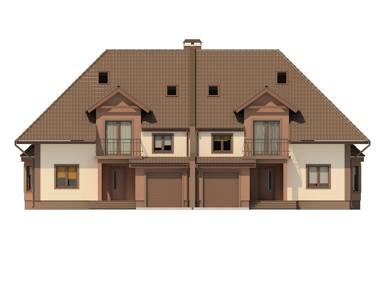 Проект домов близнецов с гаражом и дополнительным помещением на чердаке. 7