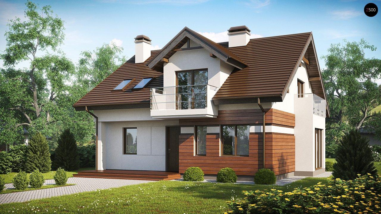 Версия проекта Z28 с небольшими изменениями в планировке, современным дизайном фасадов. - фото 1