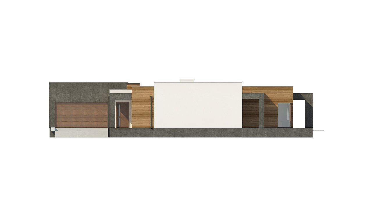 Одноэтажный дом с плоской кровлей и террасой 25