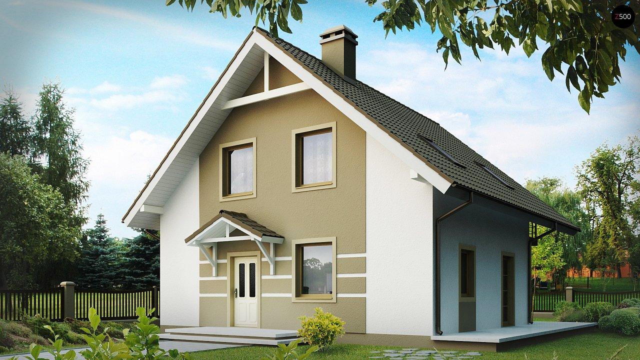 Стильный дом с мансардой, экономичный в строительстве и эксплуатации. 2