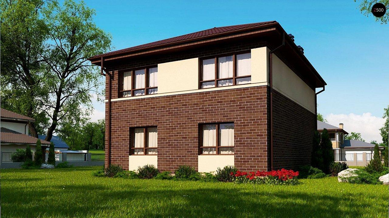 Проект элегантного дома с четырехскатной кровлей. 2