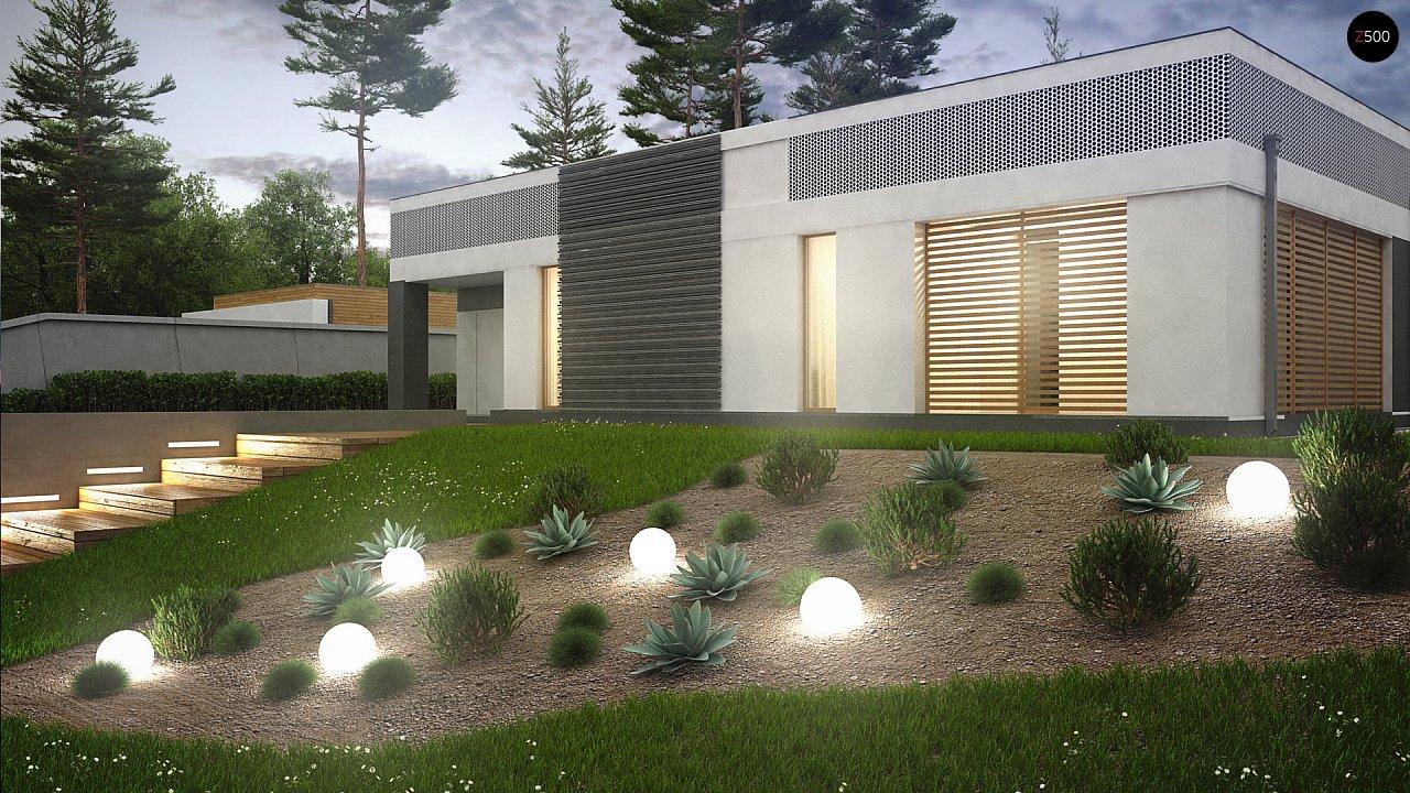 Проект дома в современном стиле с закрытой террасой - фото 5