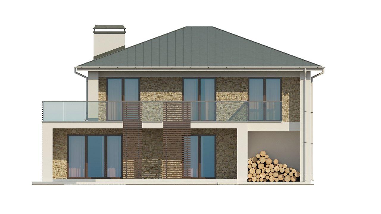 Просторный и комфортный двухэтажный дом с большими окнами. 10