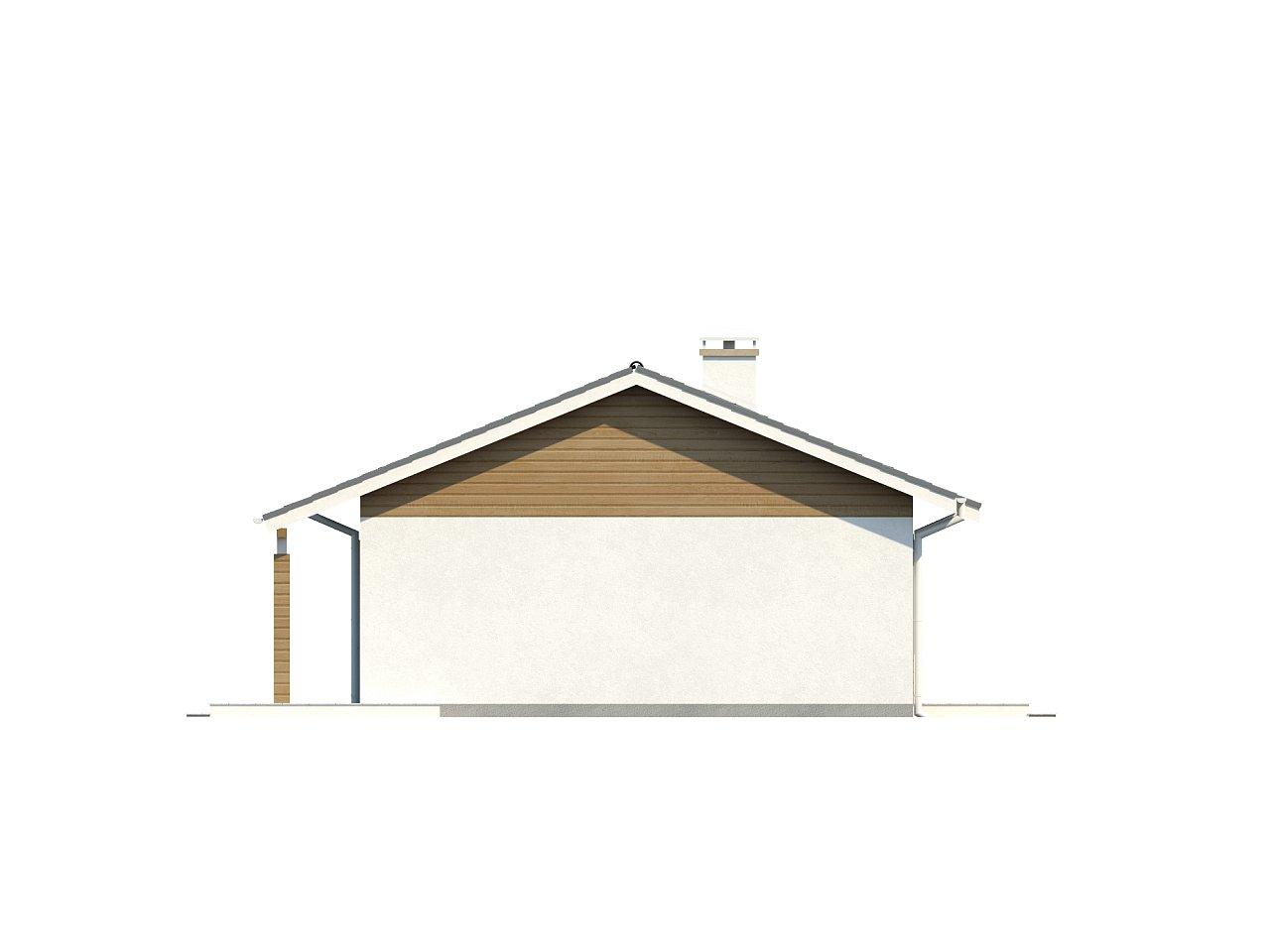 Компактный дом с двускатной крышей — выгодный, функциональный и практичный. 24