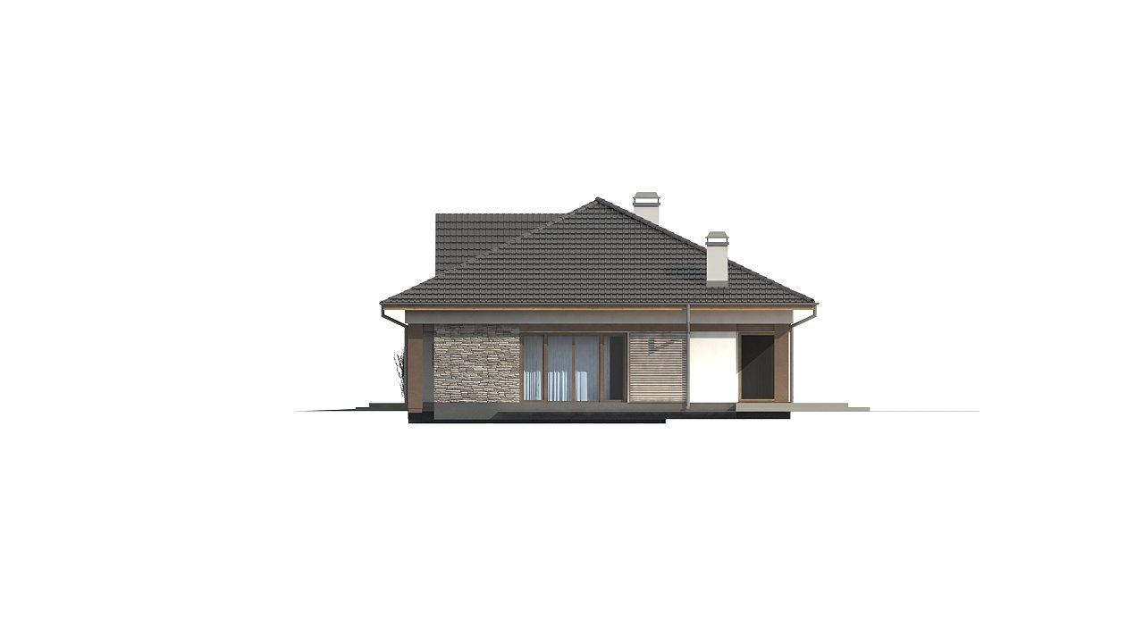 Версия дома Z153 с гаражом, встроенным в корпус здания. - фото 5