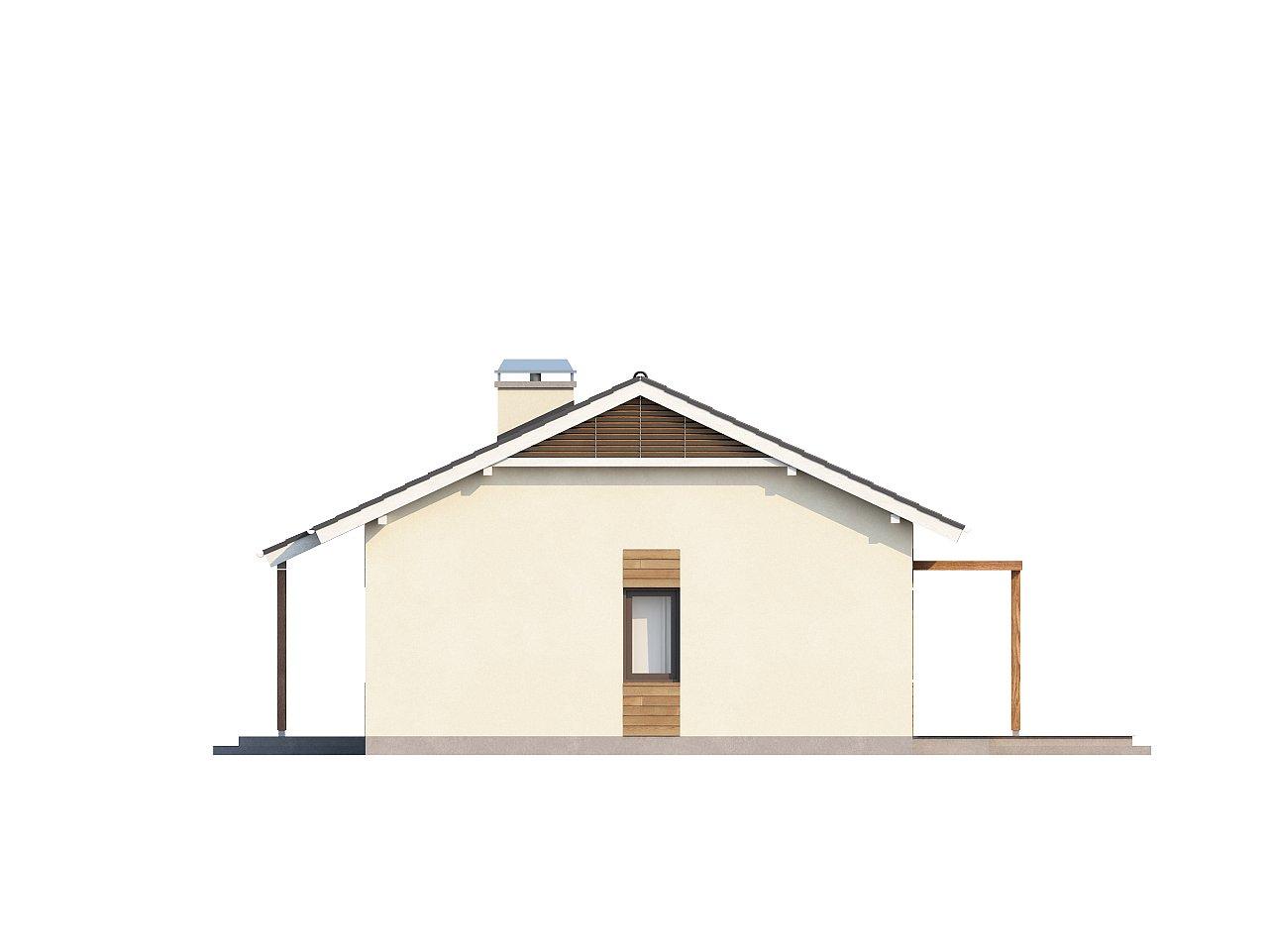Проект компактного одноэтажного дома, экономичного как в строительстве, так и в эксплуатации. 17
