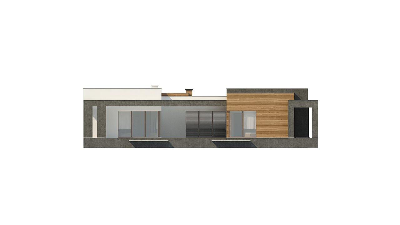 Одноэтажный дом с плоской кровлей и террасой 24