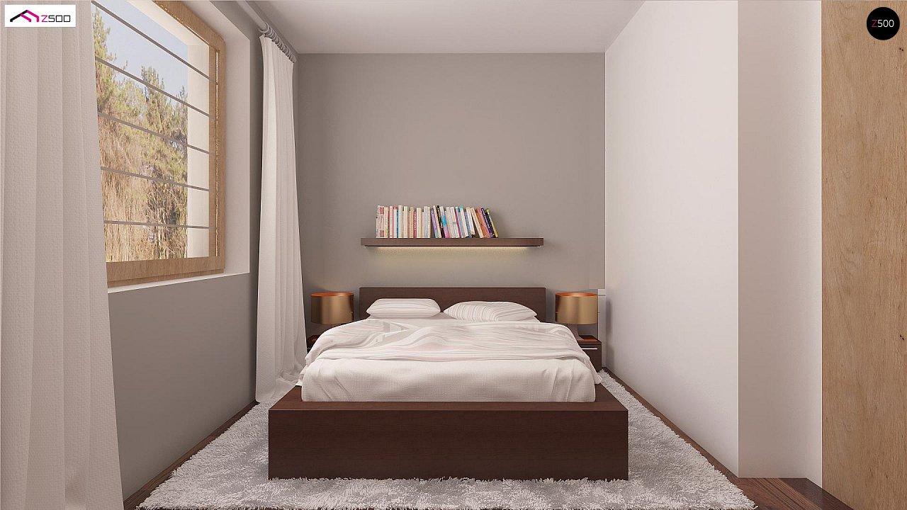 Проект простого и аккуратного дома с дополнительной ночной зоной на первом этаже. 9