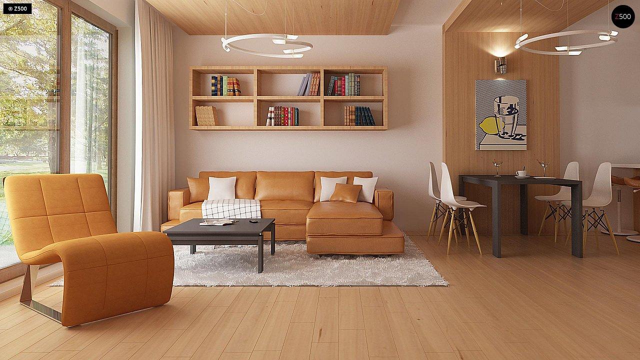 Проект одноэтажного классического дома адаптированного для каркасной технологии строительства. - фото 3