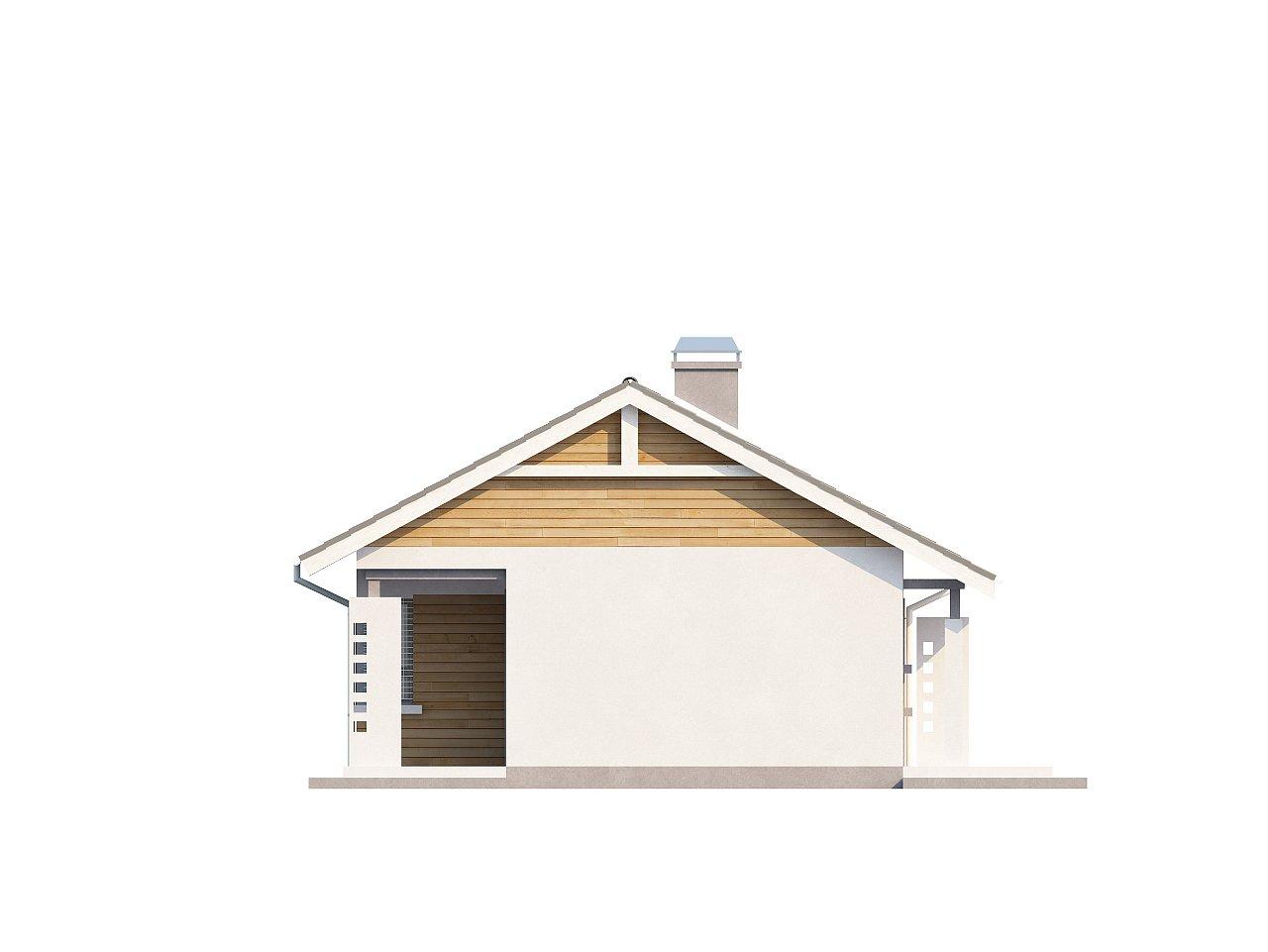Выгодный компактный одноэтажный дом с угловым окном в кухне. 17