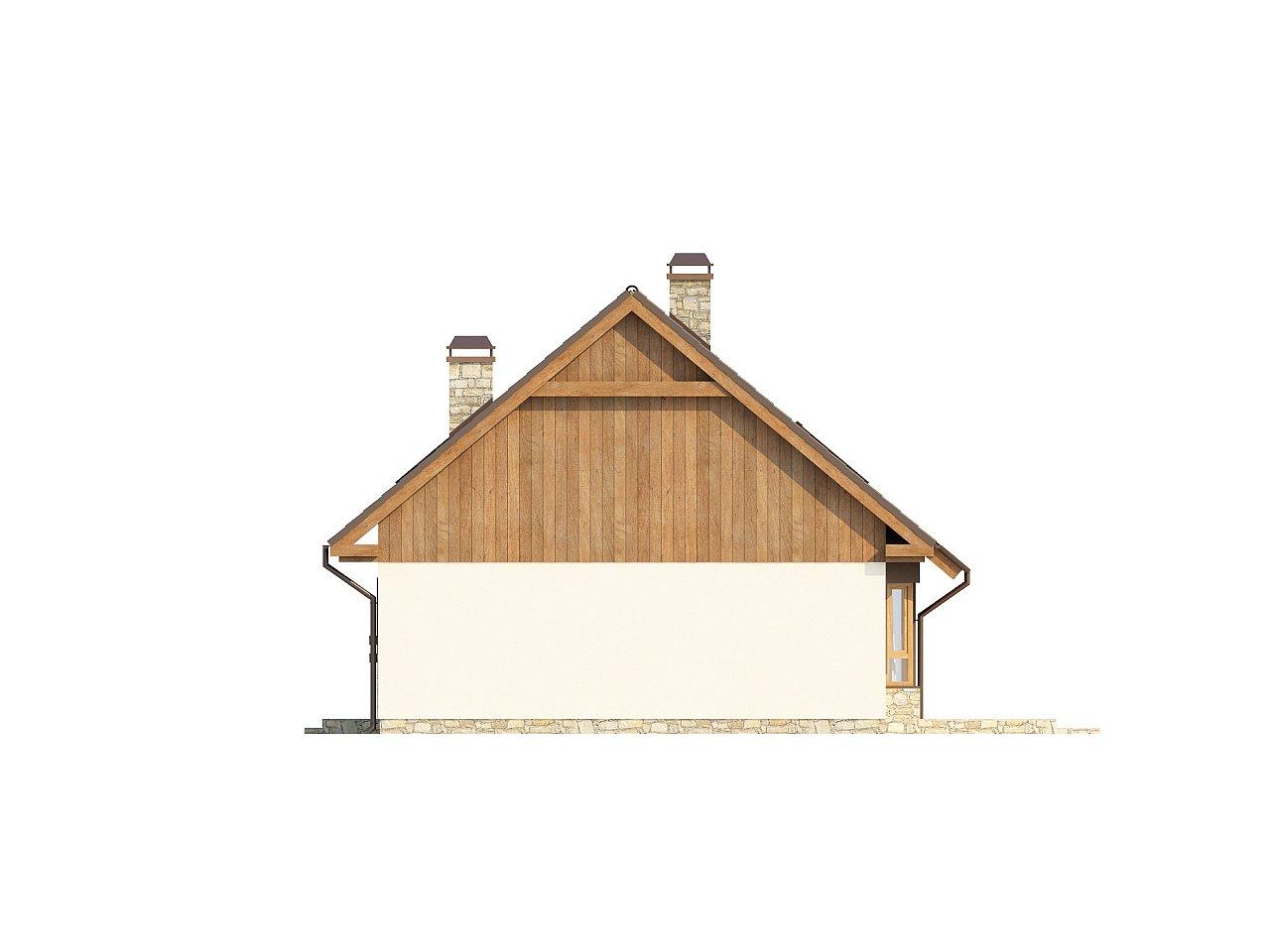 Выгодный и простой в строительстве дом с эркером в дневной зоне. 24