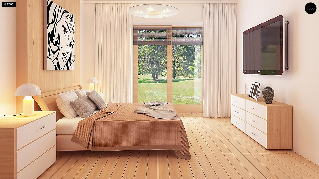 Проект практичного одноэтажного дома в традиционном стиле. 10