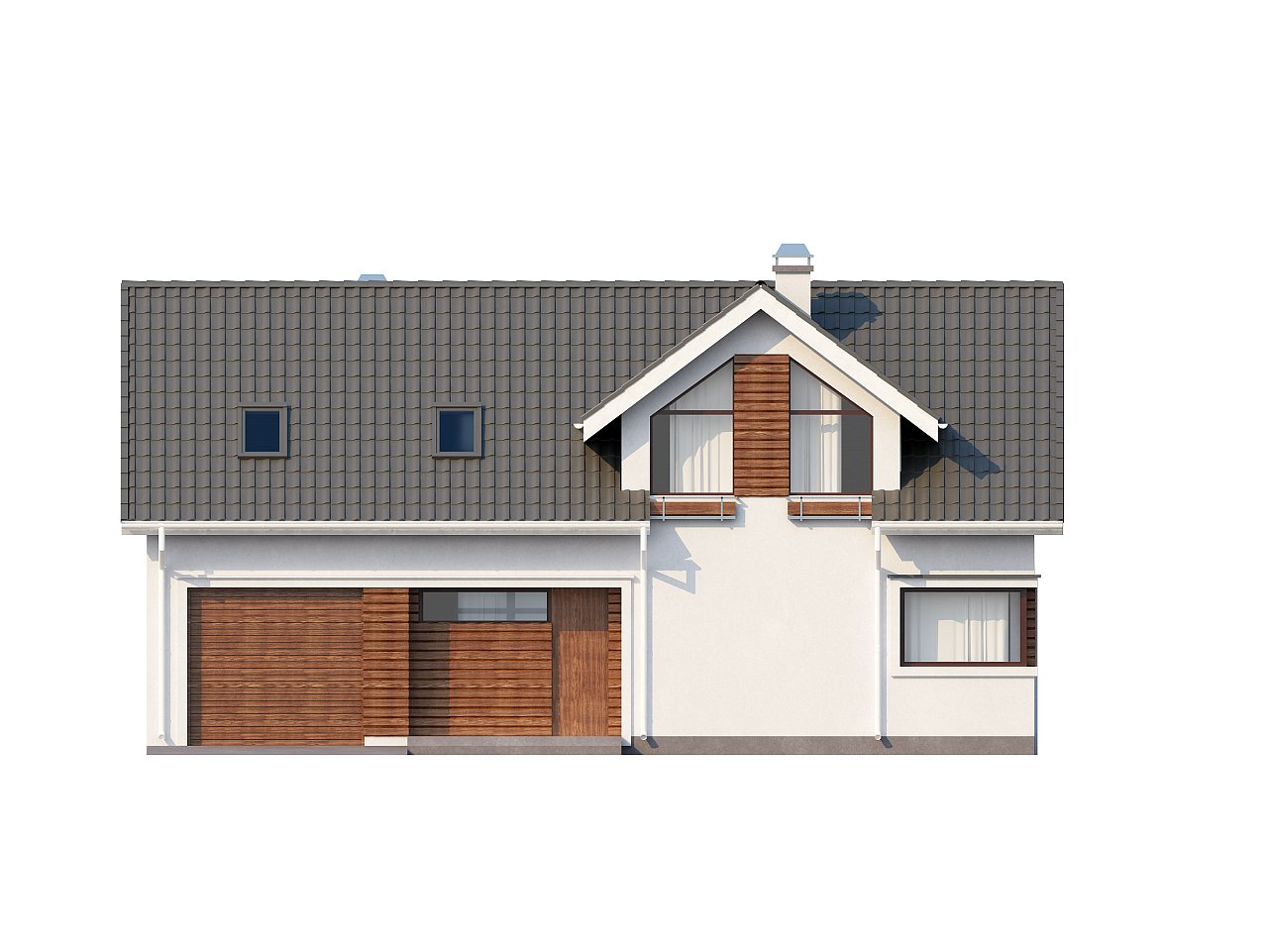Дом со встроенным гаражом, красивым мансардным окном и вторым светом над гостиной. - фото 10