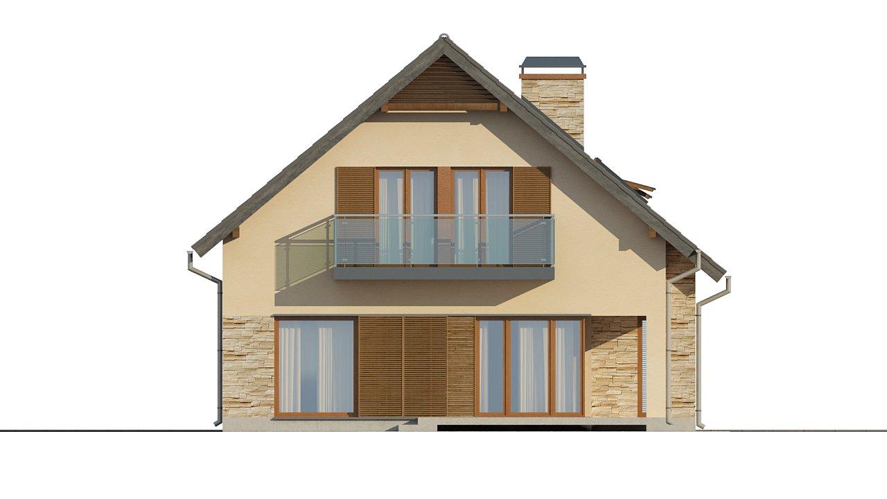 Проект аккуратного и удобного дома с мансардой. - фото 4
