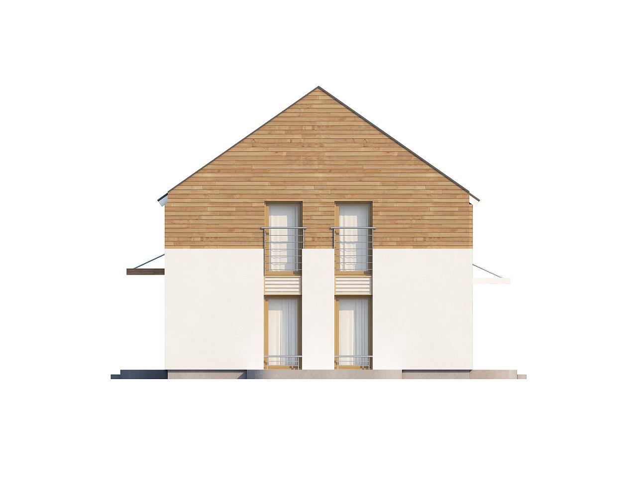 Энергоэффективный дом оригинального дизайна с просторной гостиной. - фото 6