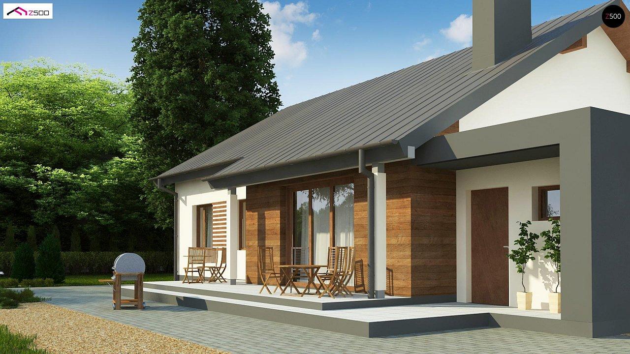 Дом, выполненный в традиционном стиле с одноуровневой планировкой. 6