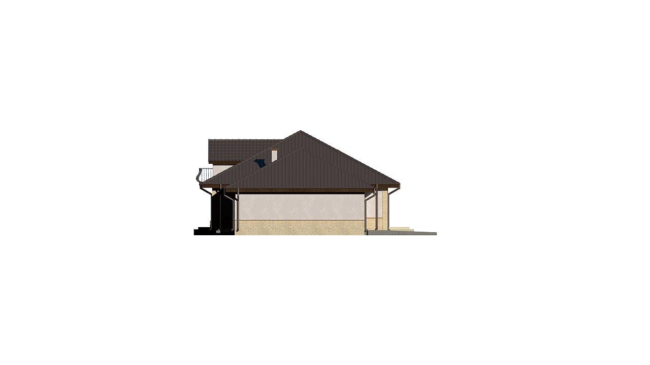 Версия проекта Z10 с гаражом с левой стороны, мансардой и балконом. 23
