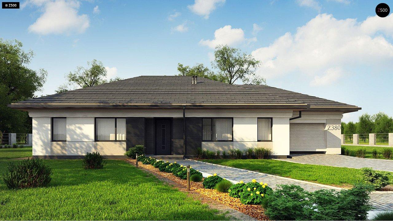 Прекрасный одноэтажный дом в современном стиле и гаражом на одну машину. - фото 6