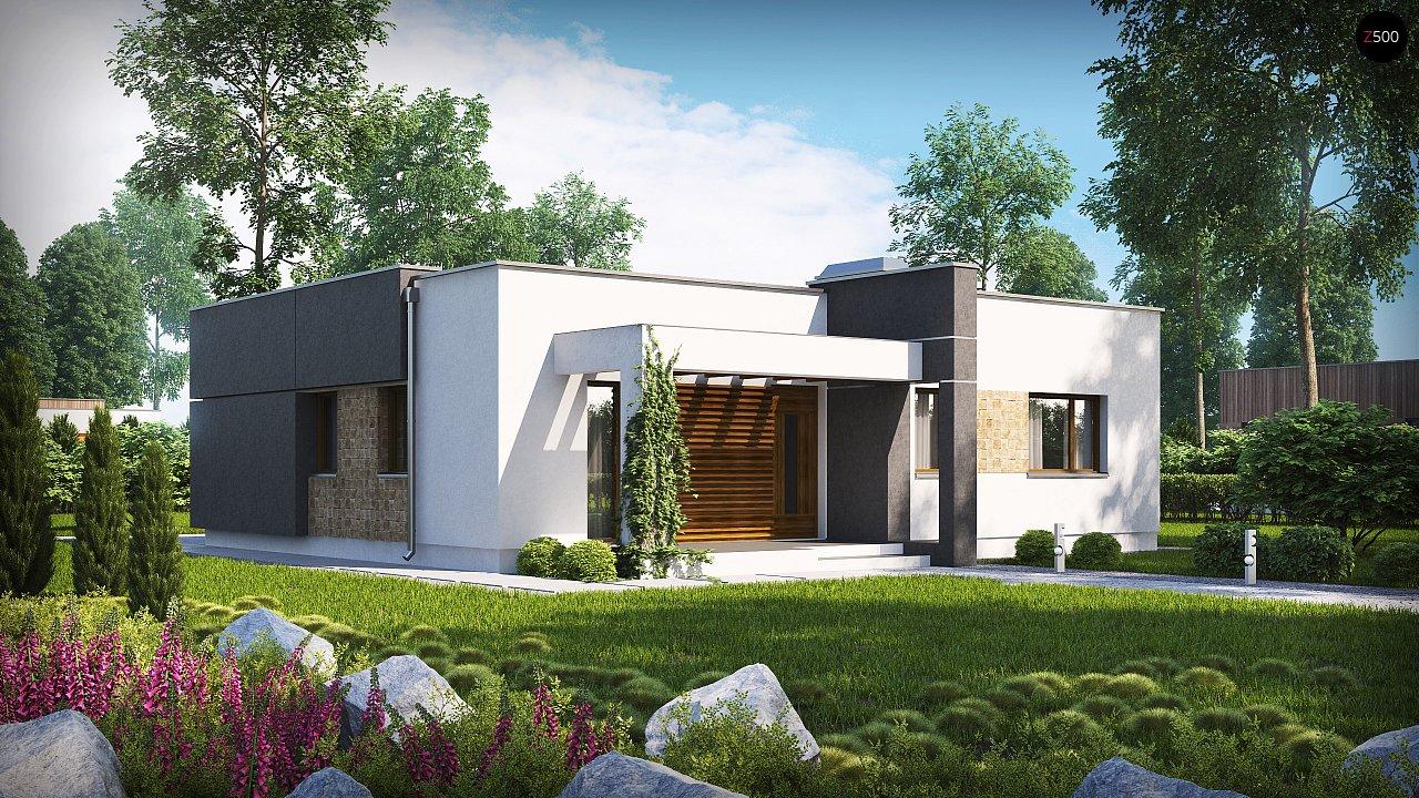 Небольшой дом из газобетона в стиле хай-тек — элегантный, практичный и экономичный. - фото 2