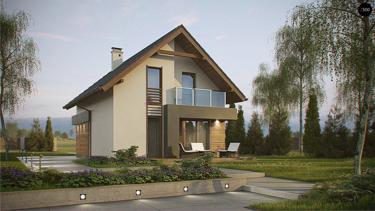 Компактный и удобный дом традиционной формы, подходящий, также, для узкого участка. 3