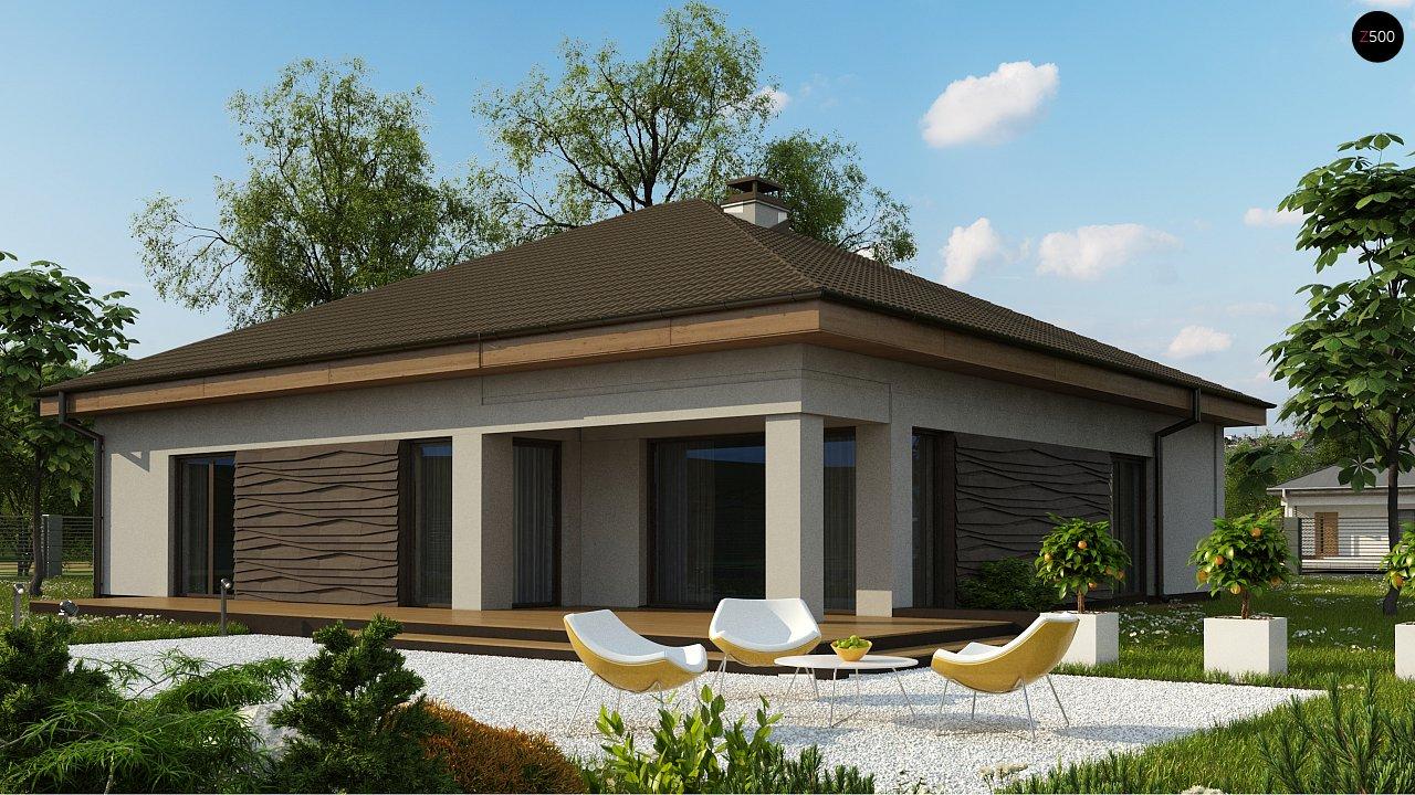 вариант проекта Z96 с измененной формой крыши и с крытой террасой. 2
