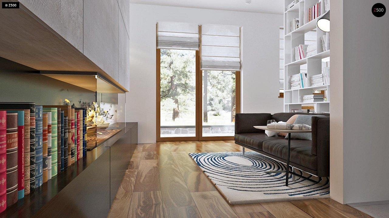 Аккуратный одноэтажный дом с деревянной облицовкой фасадов, адаптированный для каркасной технологии. 5