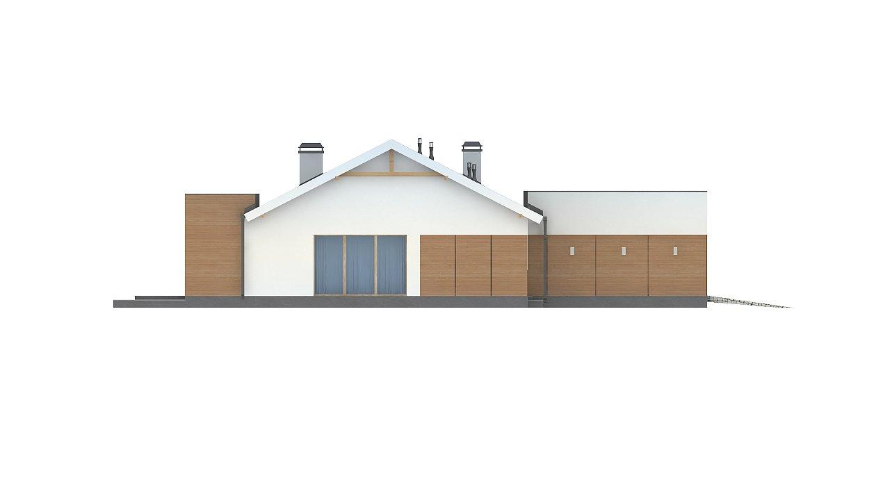 Комфортный функциональный одноэтажный дом простой формы и с гаражом для двух авто. 13