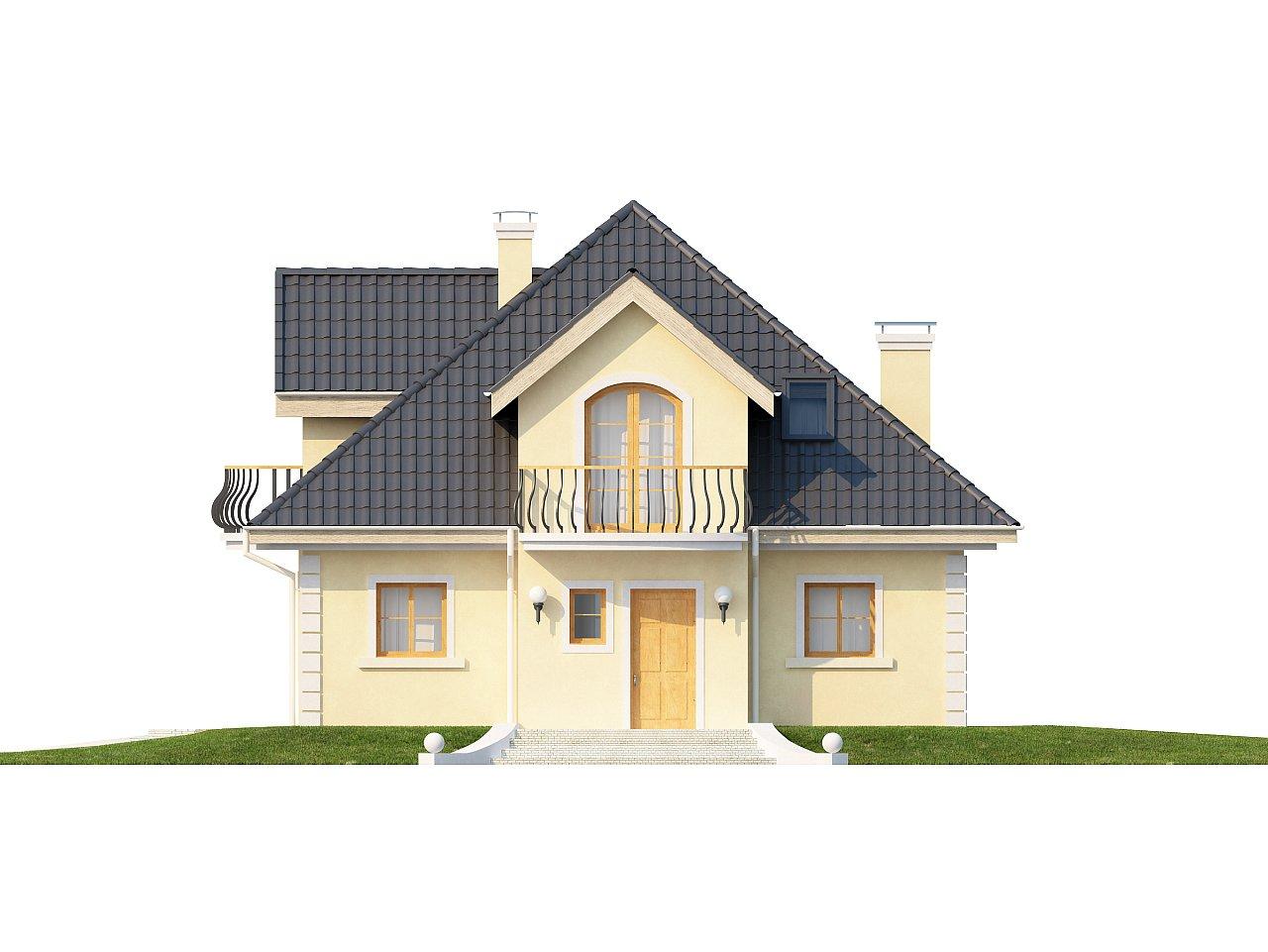 Проект изысканного классического дома с мансардой. 3