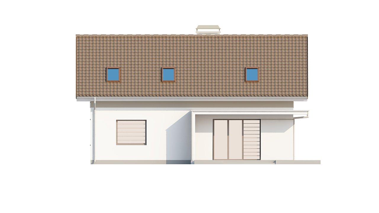Проект простого и аккуратного дома с дополнительной ночной зоной на первом этаже. 14