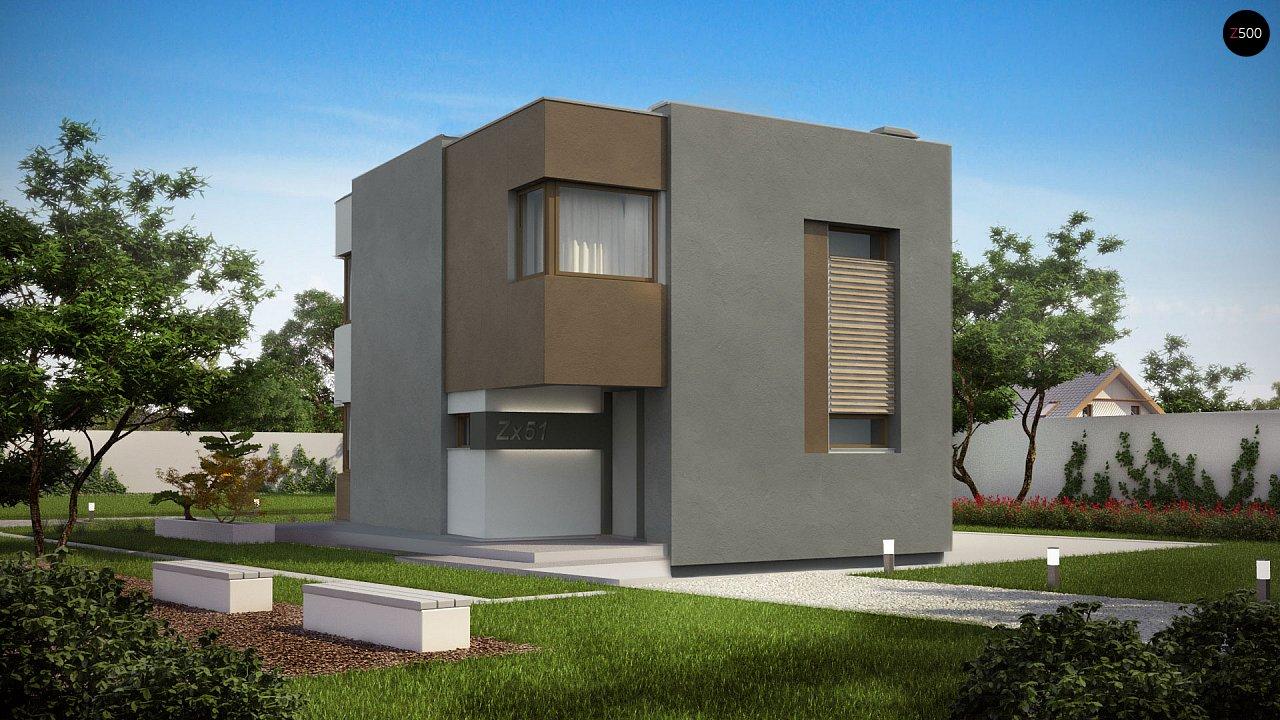 Компактный дом в стиле современного кубизма с тремя спальнями. - фото 3
