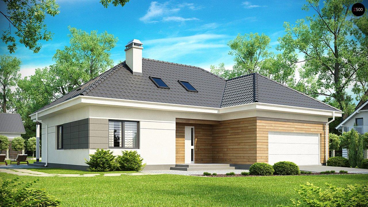 Просторный дом традиционной формы с гаражом и дополнительной небольшой ночной зоной на первом этаже. - фото 1