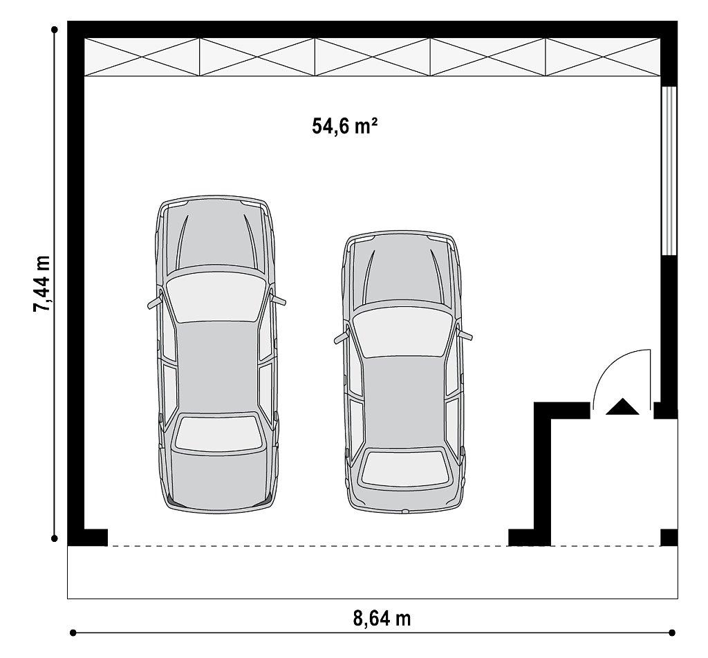 Комфортный гараж на две машины план помещений 1