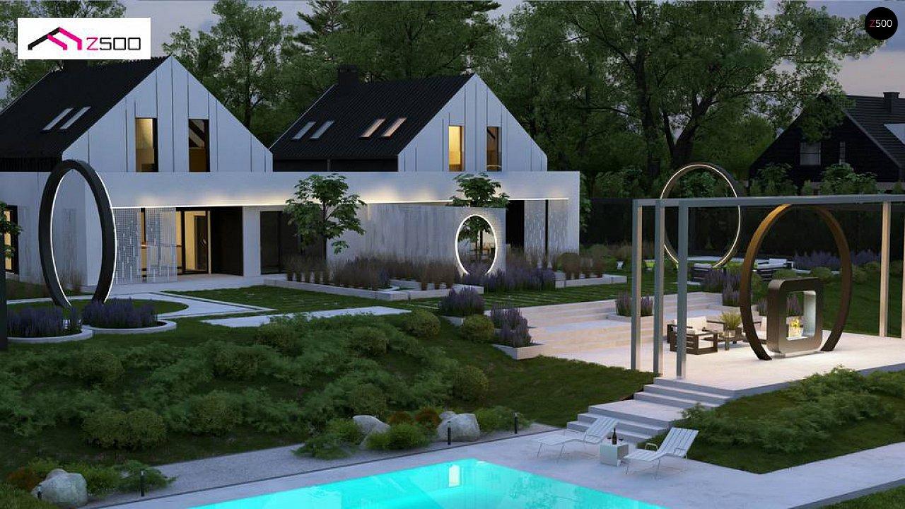 Современный двухсемейный дом с двускатной крышей 5