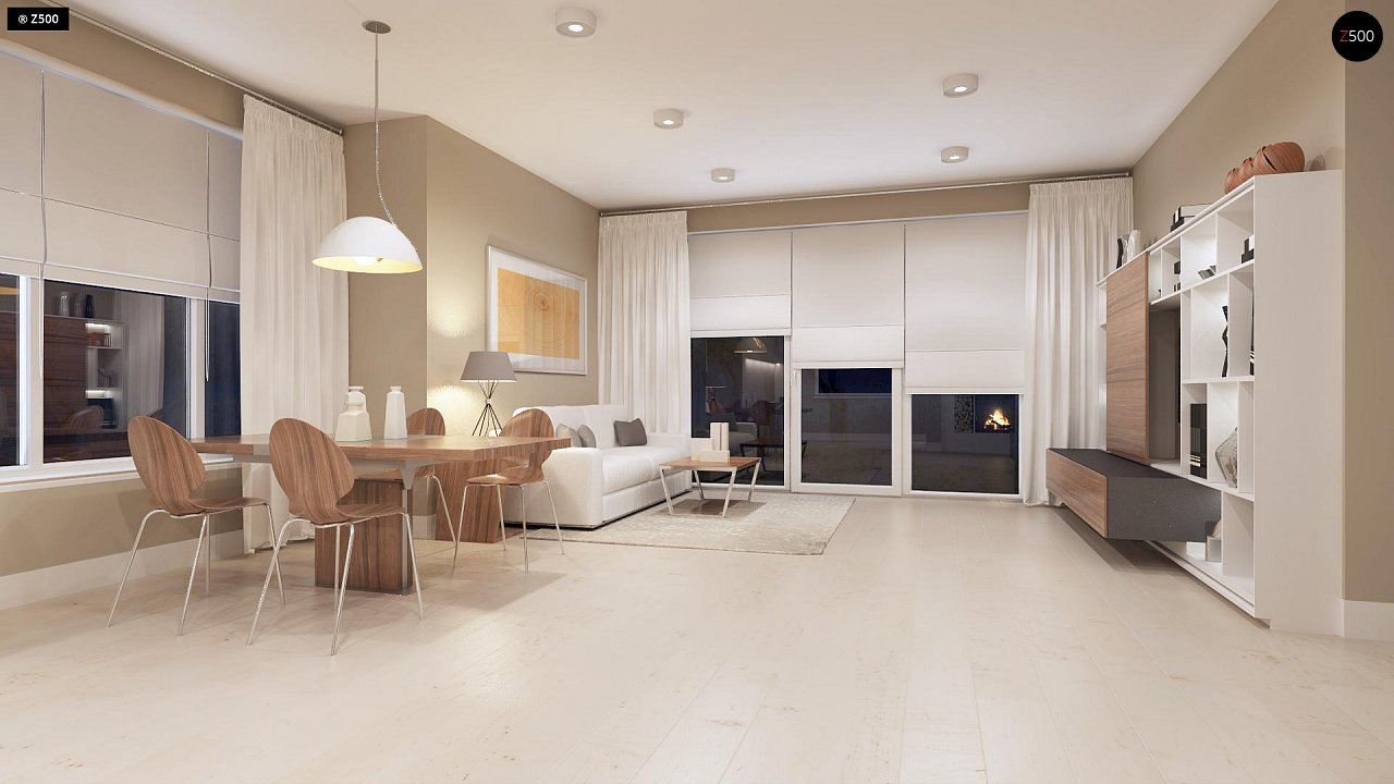 Компактный дом с мансардой, эркером в дневной зоне и c кабинетом на первом этаже. 5