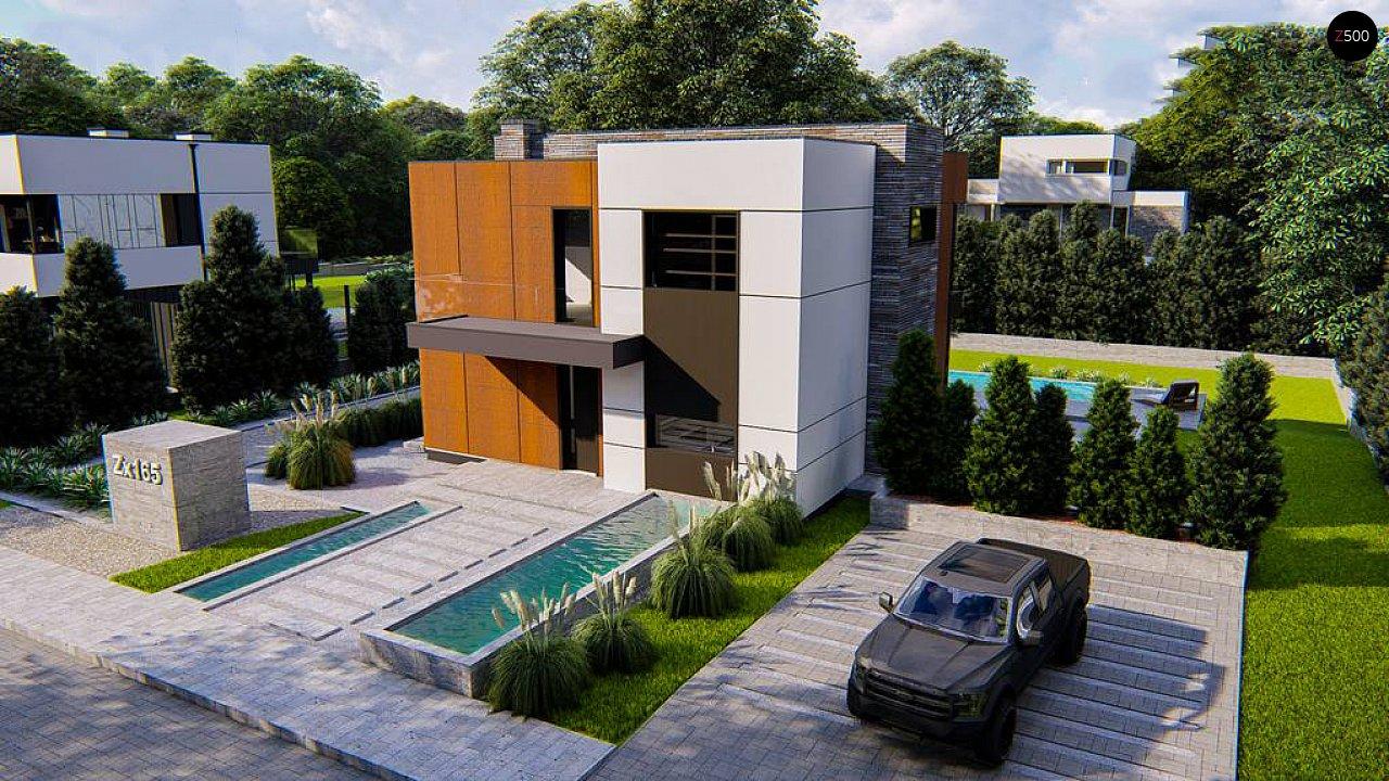 Современный двухэтажный дом без гаража 6