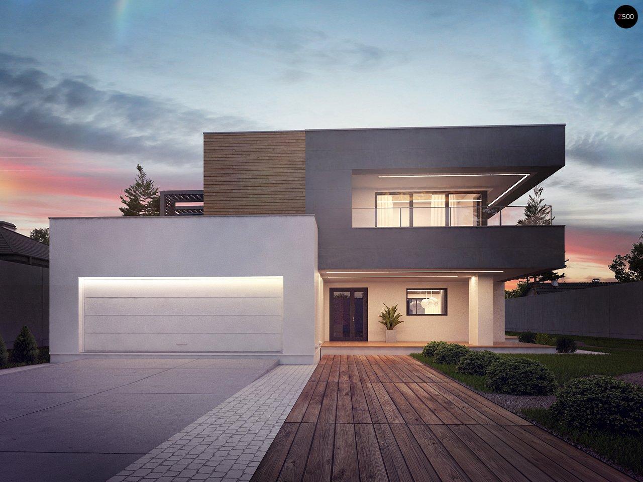 Современный двухэтажный дом с большой площадью остекления. - фото 8