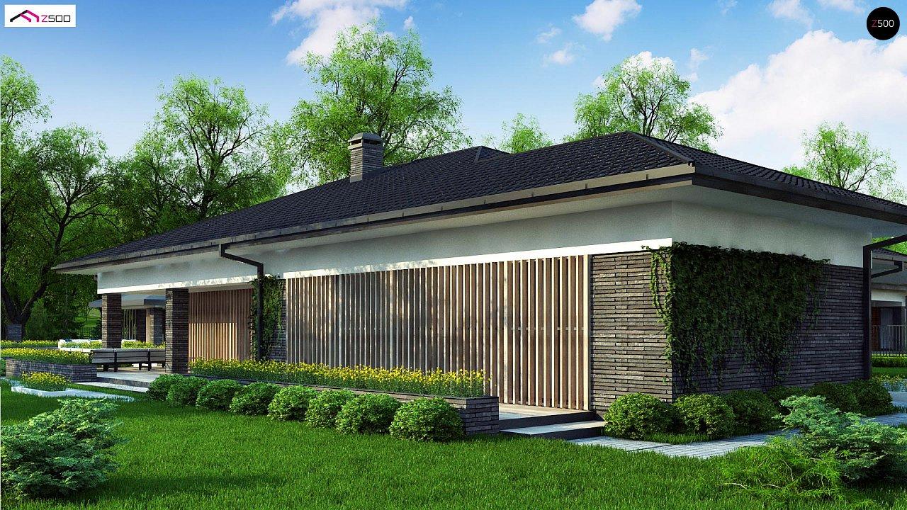 Проект стильного одноэтажного дома в традиционном стиле - фото 6
