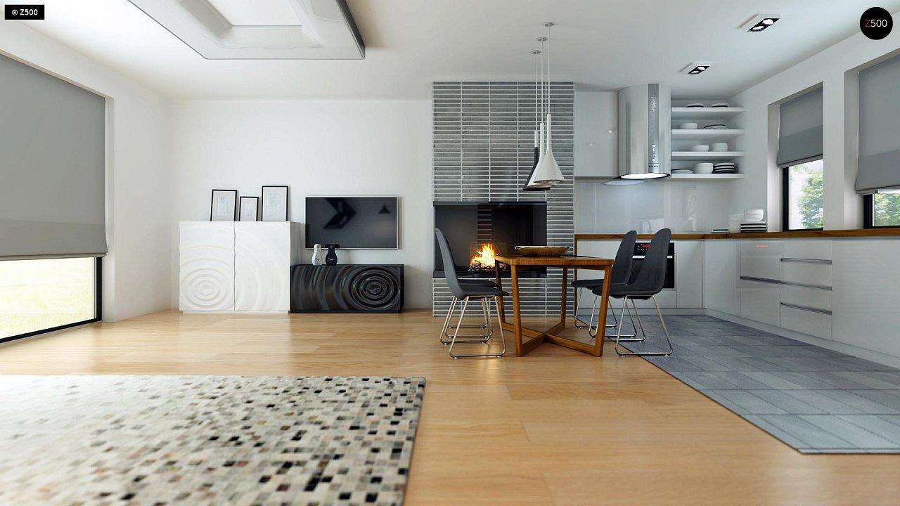 Современный комфортабельный одноэтажный дом с функциональным интерьером и уютной террасой. 9